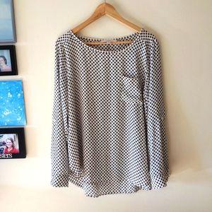Loft pullover floral print blouse mod